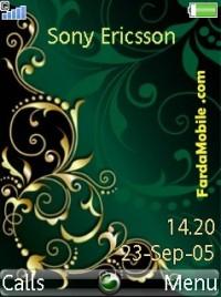 تم موبایل Green N Gold برای گوشی های سونی اریکسون